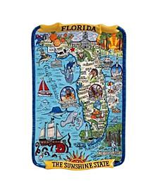 Certified International Florida Souvenir Rectangular Platter