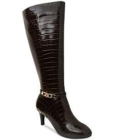 Karen Scott Hanna Wide-Calf Dress Boots, Created for Macy's
