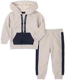 Baby Boys Hooded Fleece Top Pant Set