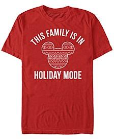 Men's Family Holiday Mode Short Sleeve T-Shirt