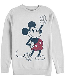 Men's Plaid Mickey Long Sleeve T-Shirt