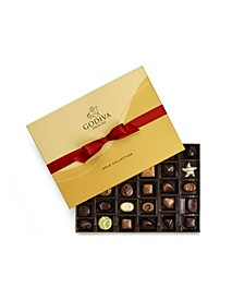Holiday Ballotin Gold Chocolate Gift Box, 36 Piece Set