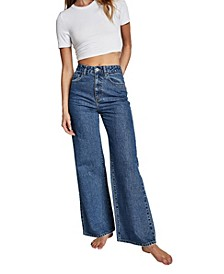 Long Wide Denim Jeans