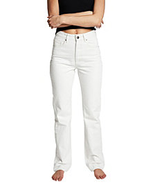 COTTON ON Women's Long Straight Leg Denim Jeans