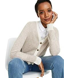 Cashmere Long Sleeve Boyfriend Cardigan, Regular & Petite Sizes, Created for Macy's