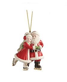 Ice Skating Santa and Mrs. Claus Ornament