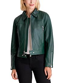 Leather Moto Coat