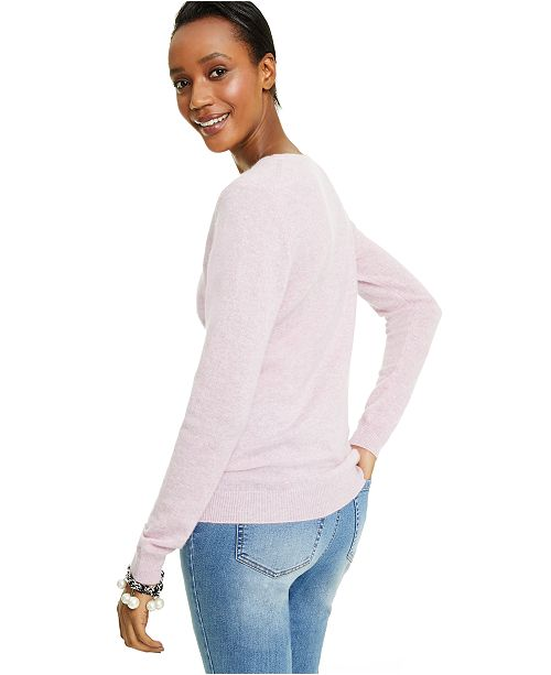 Crew Neck Cashmere Sweater, Regular & Petite Sizes, Created for Macy's