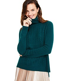 Cashmere Cable-Knit Turtleneck Sweater, Created for Macy's