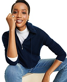 Cashmere Zip-Front Hoodie, In Regular and Petites, Created for Macy's