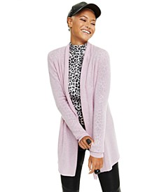 Rolled-Edge Pure Cashmere Cardigan, Regular & Petite Sizes, Created for Macy's