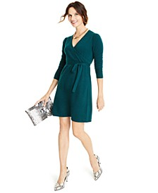 Cashmere Faux-Wrap Dress, Created for Macy's