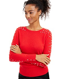 Cashmere Embellished Sweater, Created for Macy's