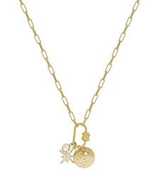 Crystal and 18K Gold Charmed For Sure Women's Necklace