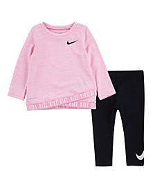 Baby Girls Dri-FIT Tunic T-Shirt and Leggings Set