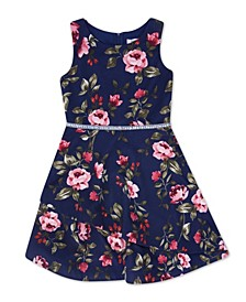 Big Girl Round Neck Floral Tier Bottom Dress