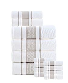 Magenta Turkish Cotton 14 Pieces Towel Set