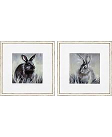 "Wild Hare Pack 2 Framed Wall Art, 22"" x 22"""