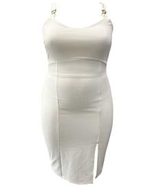 Trendy Plus Size Sleeveless Bodycon Dress