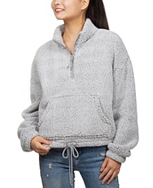 Juniors' Sherpa Quarter-Zip Top