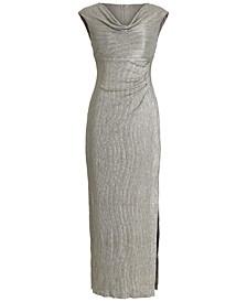 Textured Metallic Gown