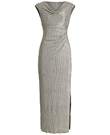 Connected Textured Metallic Gown