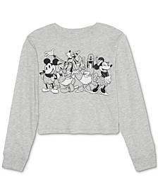 Juniors' Mickey & Friends Long-Sleeve T-Shirt