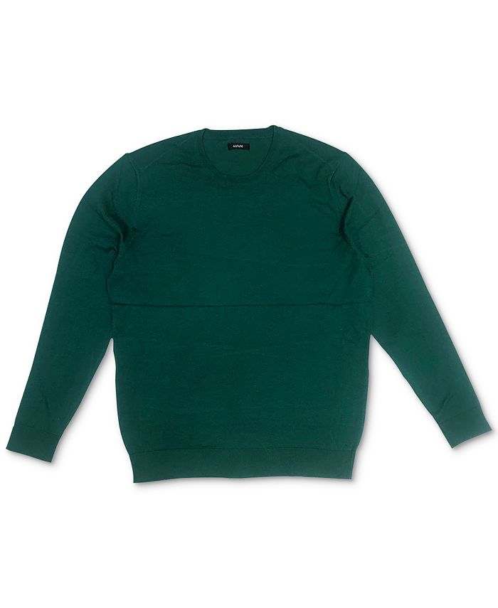 Alfani - Men's Solid Crewneck Sweater