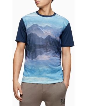 Calvin Klein Men's Mountain Print Crewneck T-shirt