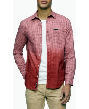 Calvin Klein Men's Ombre Button-Down Long Sleeve Shirt