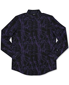 Men's Abstract Print Woven Shirt, Created for Macy's