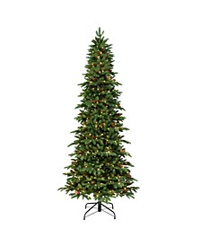 "7.5"" Pre-Lit Slim Montville Spruce Artificial Christmas Tree"