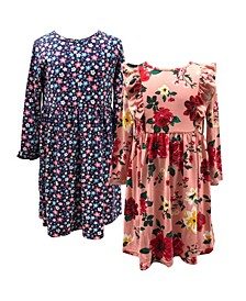 BlueBeri Toddler Girl 2 Pack  Floral Dresses