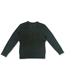 V-Neck Button-Sleeve Sweater, Created for Macy's