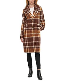 Plaid Single-Breasted Walker Coat