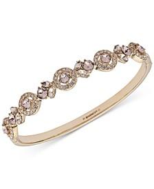 Multi-Crystal Bangle Bracelet