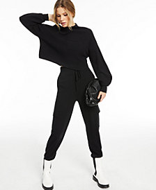 CULPOS x INC Long-Sleeve Knit Crop Top, Created for Macy's