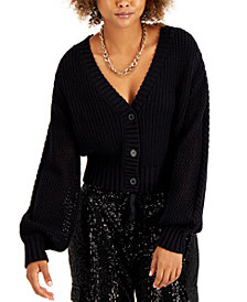 INC Cotton Mixed-Stitch Cardigan, Created for Macy's
