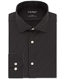 Men's Slim-Fit Non-Iron Ultraflex Performance Stretch Diamond-Print Dress Shirt