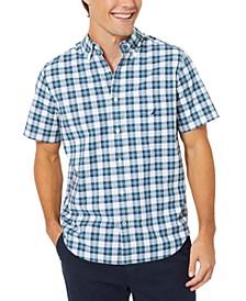Men's Classic-Fit Stretch Plaid Poplin Shirt