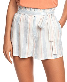 Juniors' Morro Bay Striped Shorts