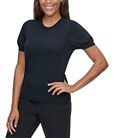 X-Fit Puff-Sleeve Sweater Top