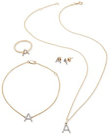 Diamond Initial Jewelry Collection in 14k Gold