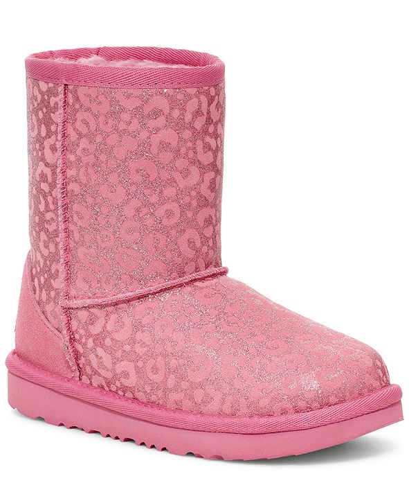 UGG® Toddlers Classic Glitter Leopard Boots