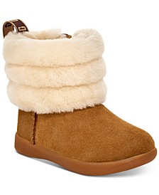 Toddler Mini Quilted Fluff Boots