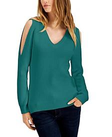 Cold-Shoulder Sweater