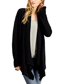 Fever Ribbed Waterfall Cardigan