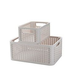 2-Tier Stackable Storage Containers