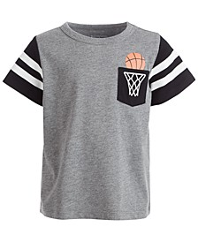 Baby Boys Short Sleeve Basketball Pocket Tee, Created for Macy's