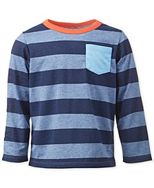Baby Boys Tonal Blue Rugby Tee, Created for Macy's